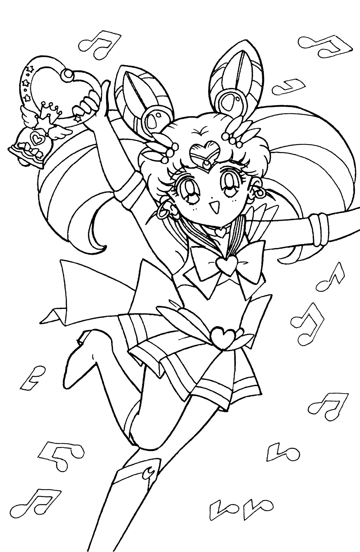 chibi moon coloring pages - photo#17