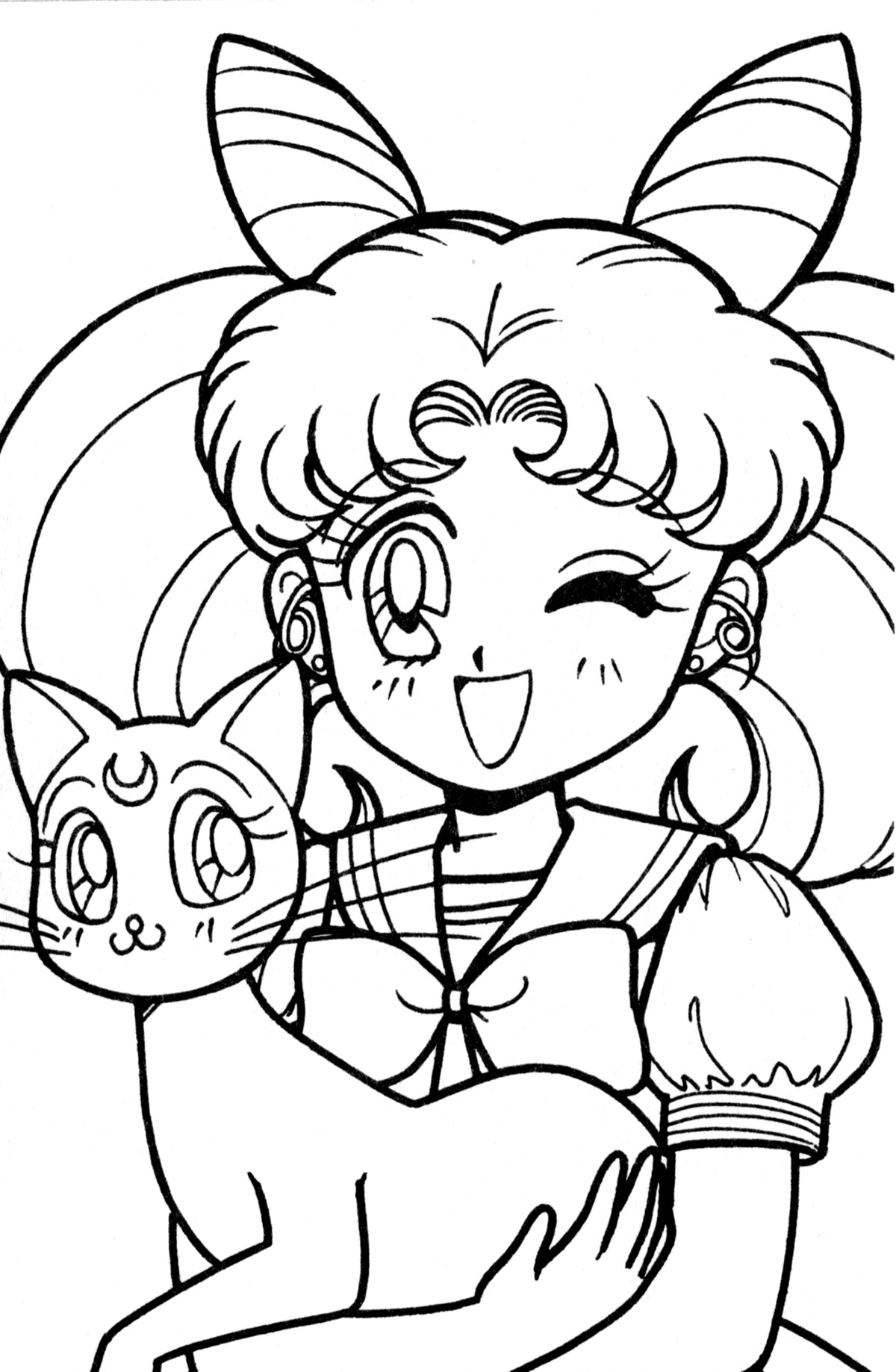 tsuki matsuri the sailormoon coloring book archive - Sailor Moon Coloring Pages