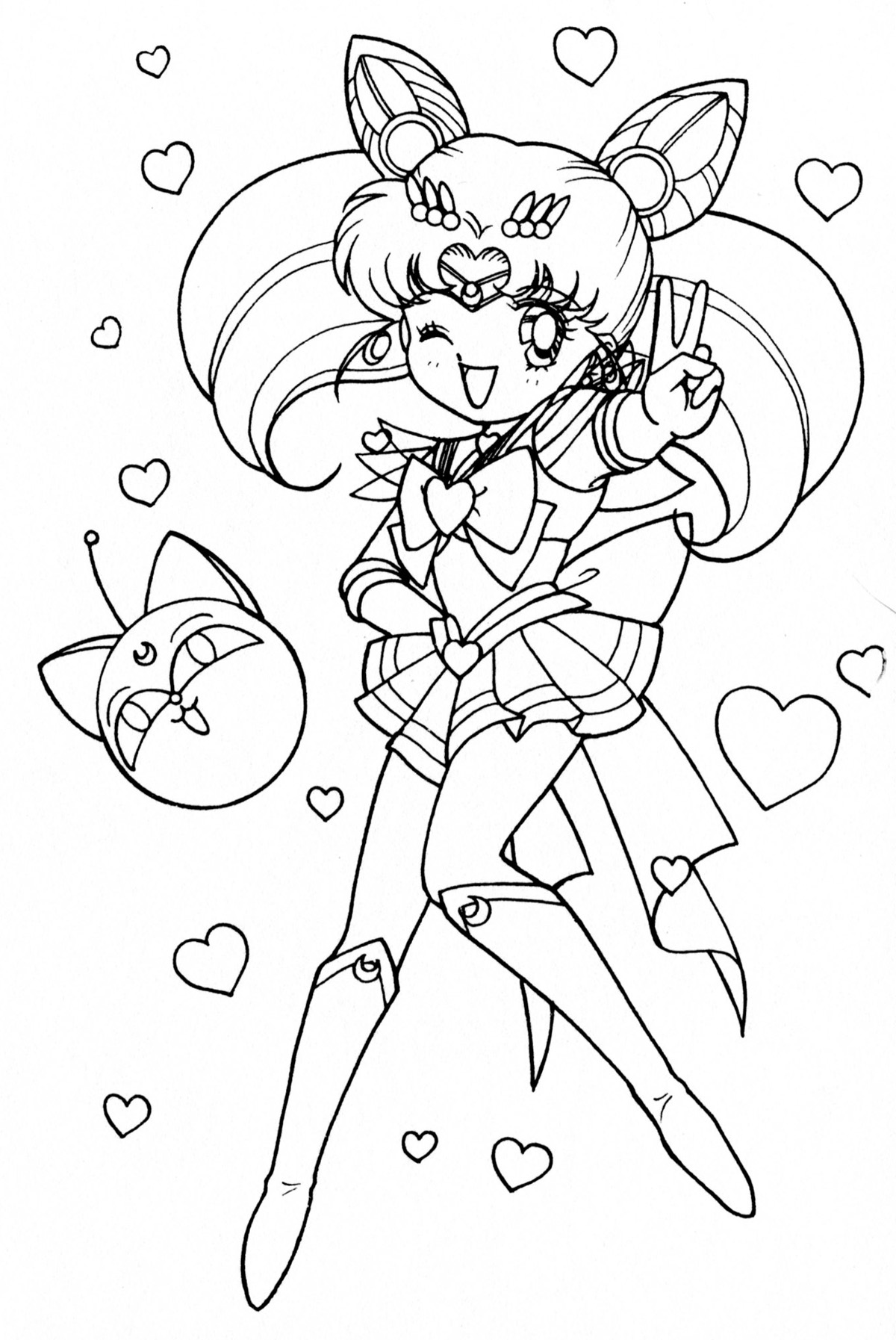 sailor moon title coloring page google search coloring pages