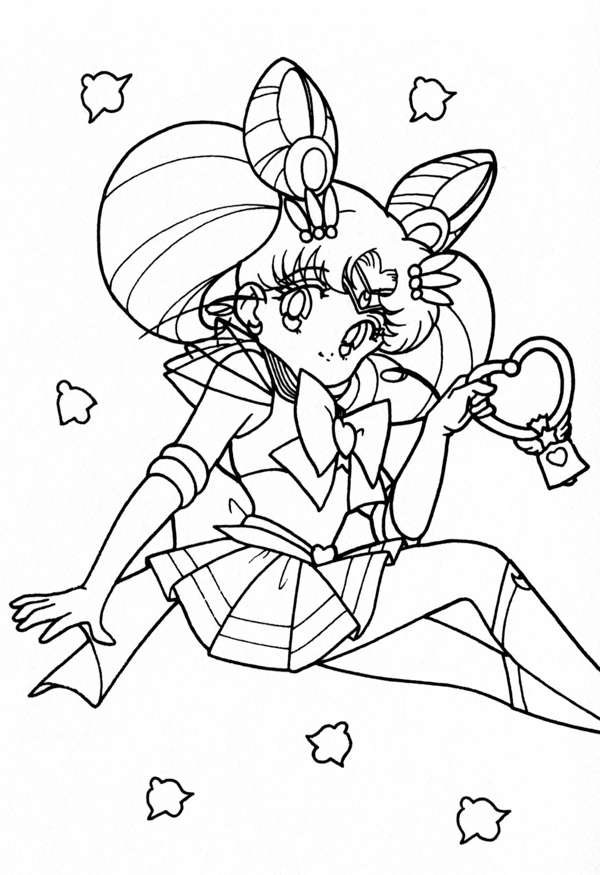 chibi moon coloring pages - photo#2