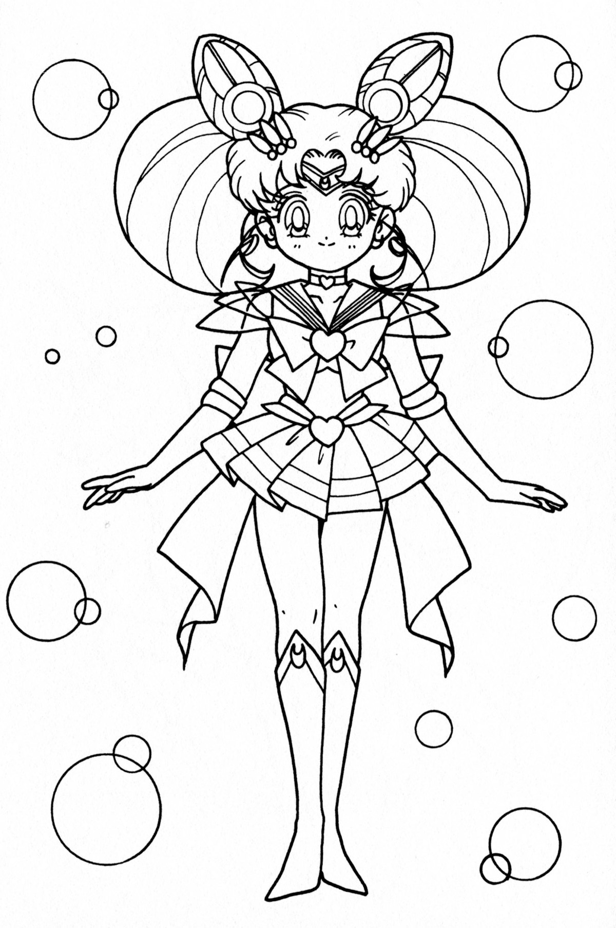 chibi moon coloring pages - photo#31