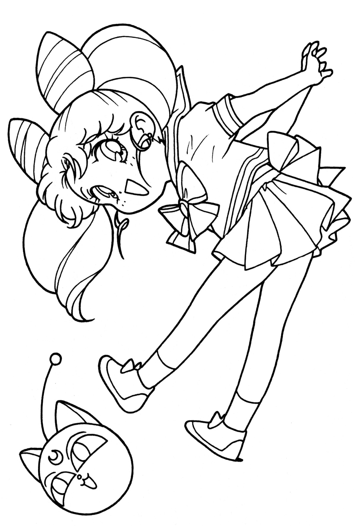 chibi moon coloring pages - photo#4