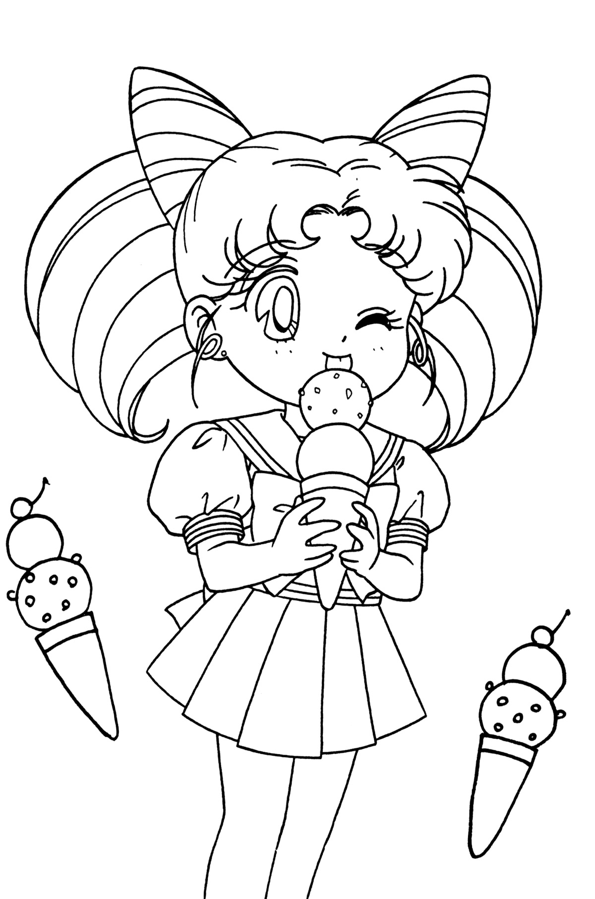 chibi moon coloring pages - photo#18