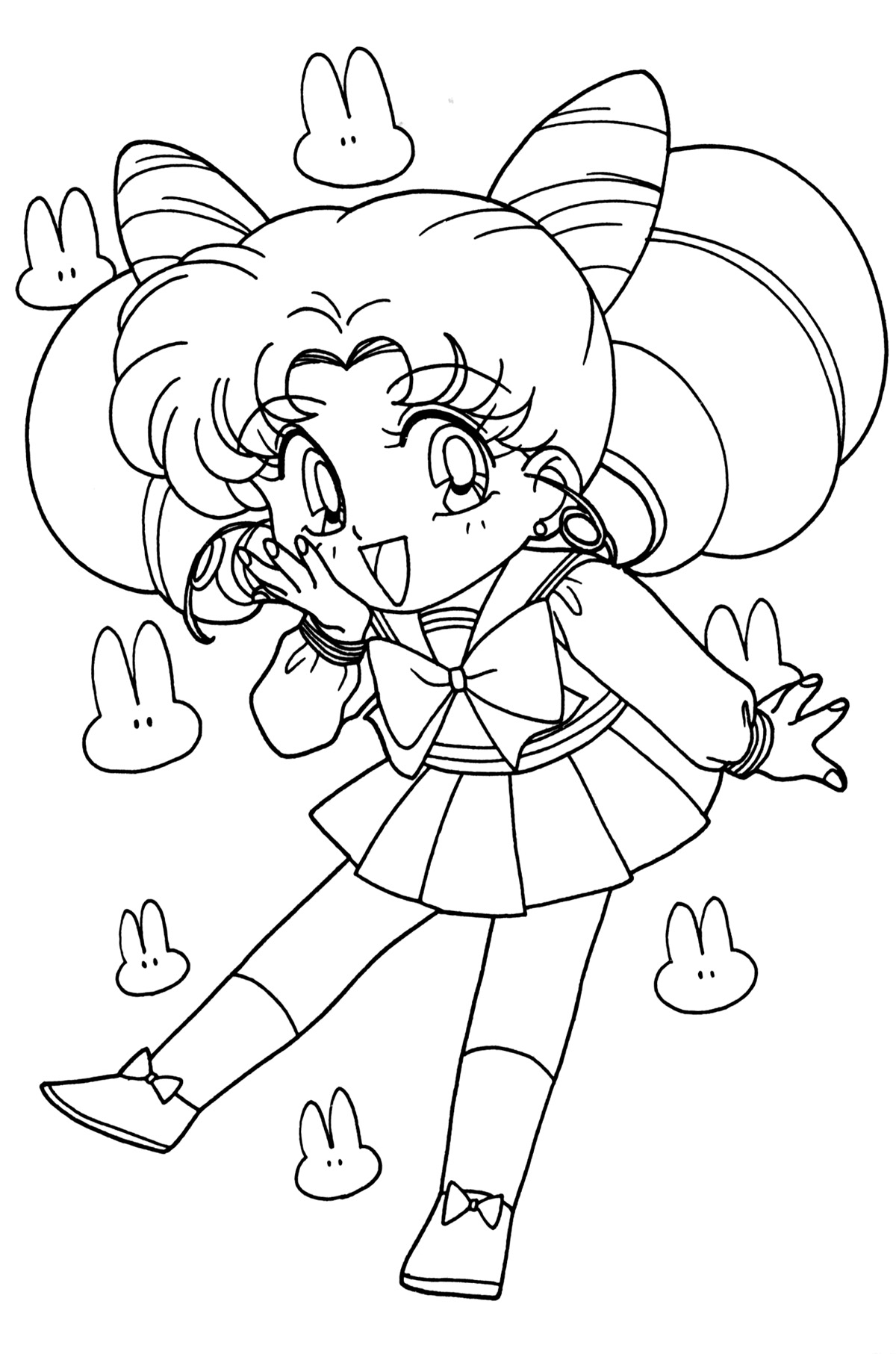 chibi moon coloring pages - photo#6