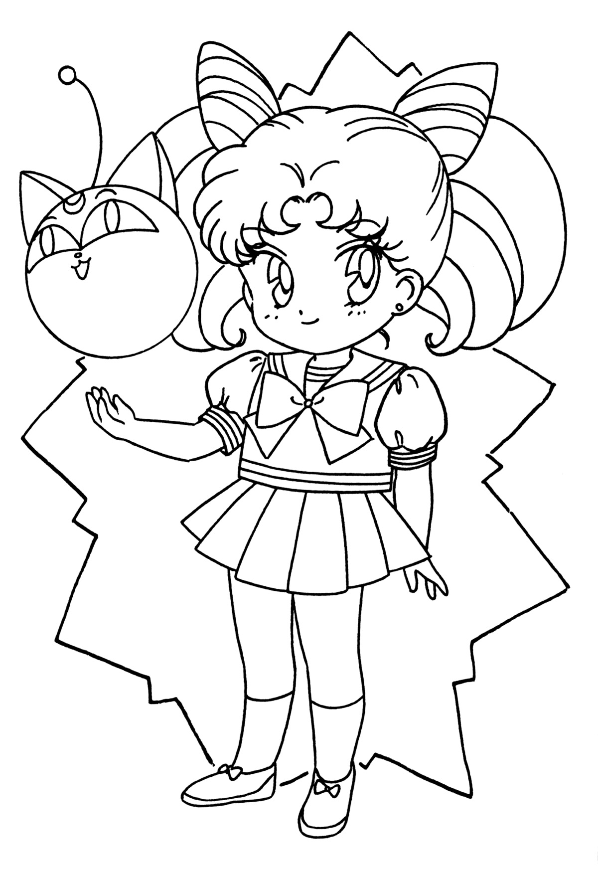 chibi moon coloring pages - photo#25