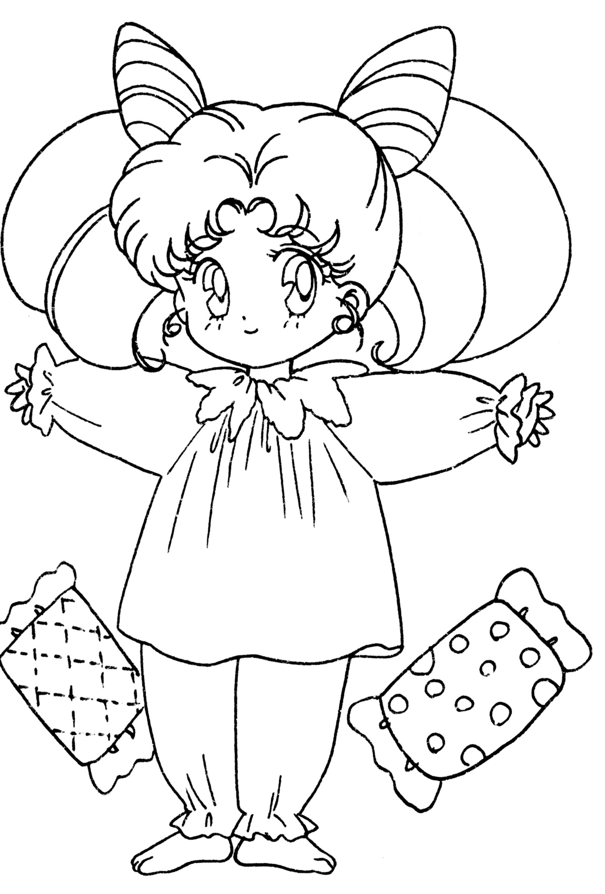chibi moon coloring pages - photo#29