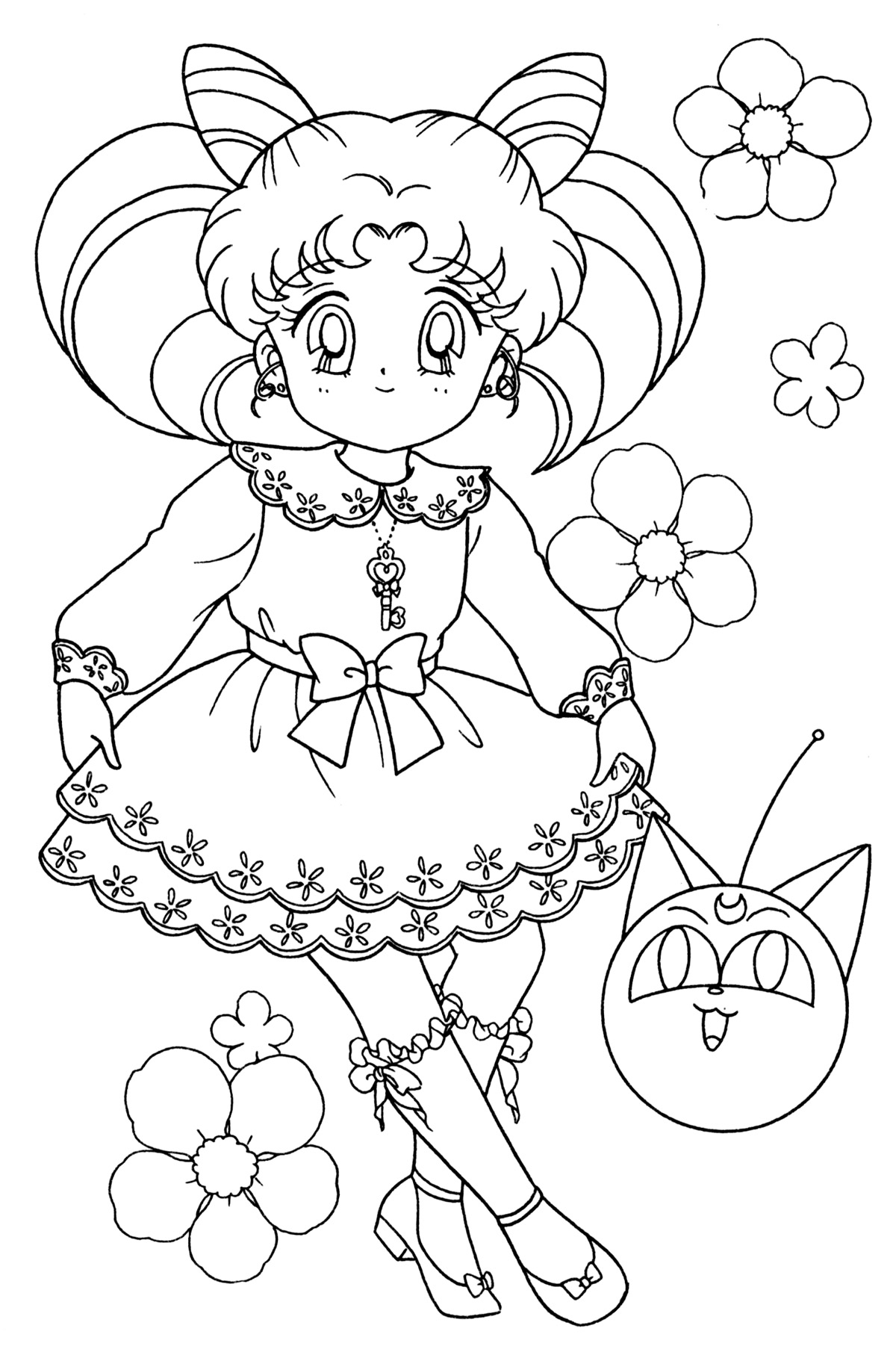 chibi moon coloring pages - photo#19