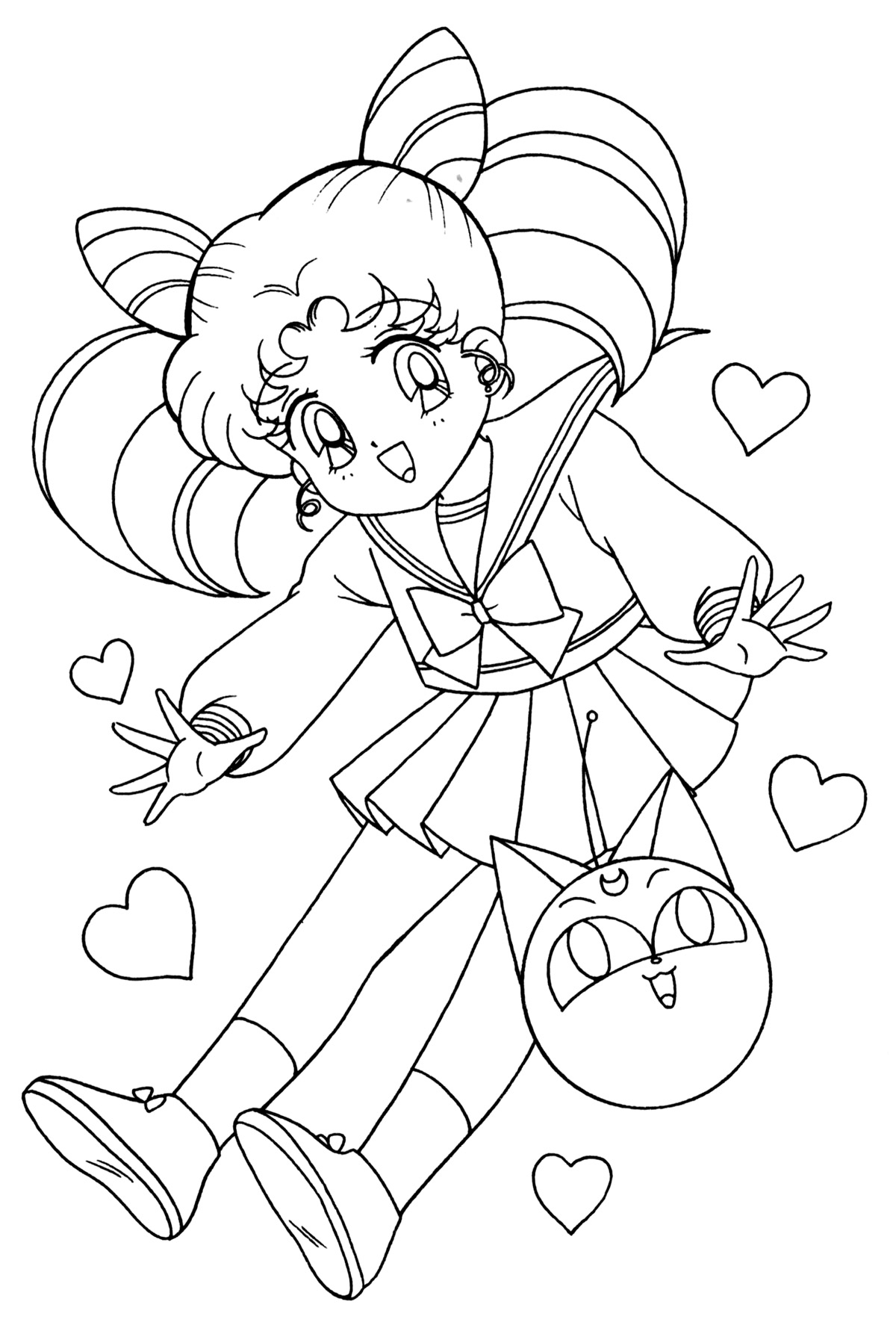 chibi moon coloring pages - photo#22