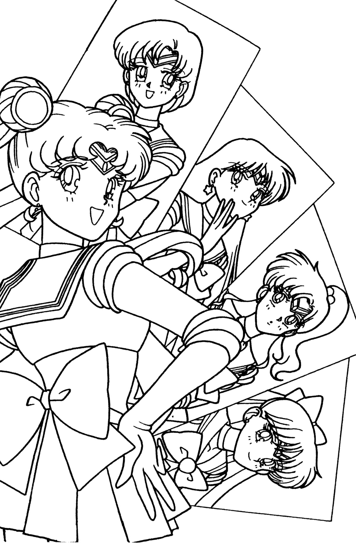 Tsuki matsuri the sailormoon coloring book archive for Coloring pages moon