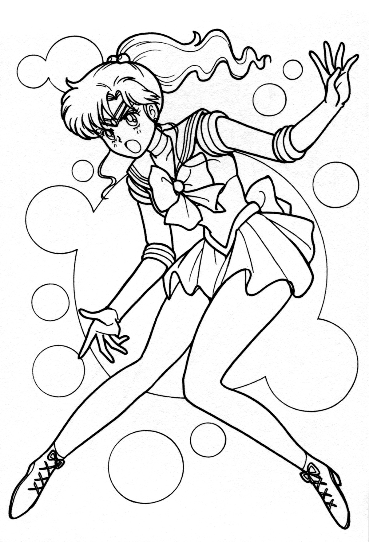 Sailor jupiter sailors and coloring pages on pinterest for Sailor jupiter coloring pages
