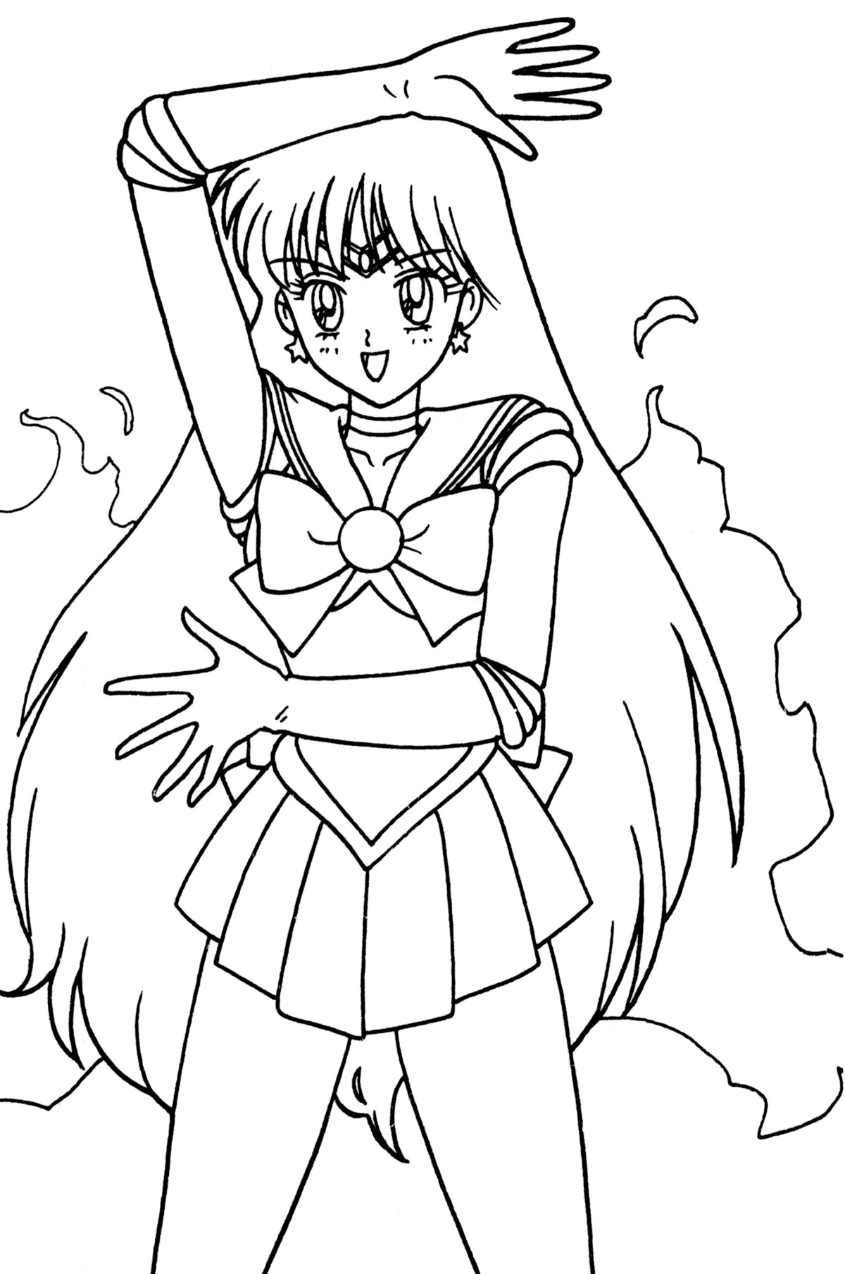 Tsuki matsuri the sailormoon coloring book archive for Mars coloring pages