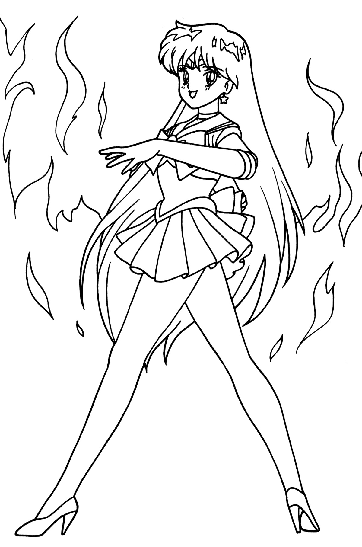 Sailor mars coloring pages coloring coloring pages for Mars coloring pages