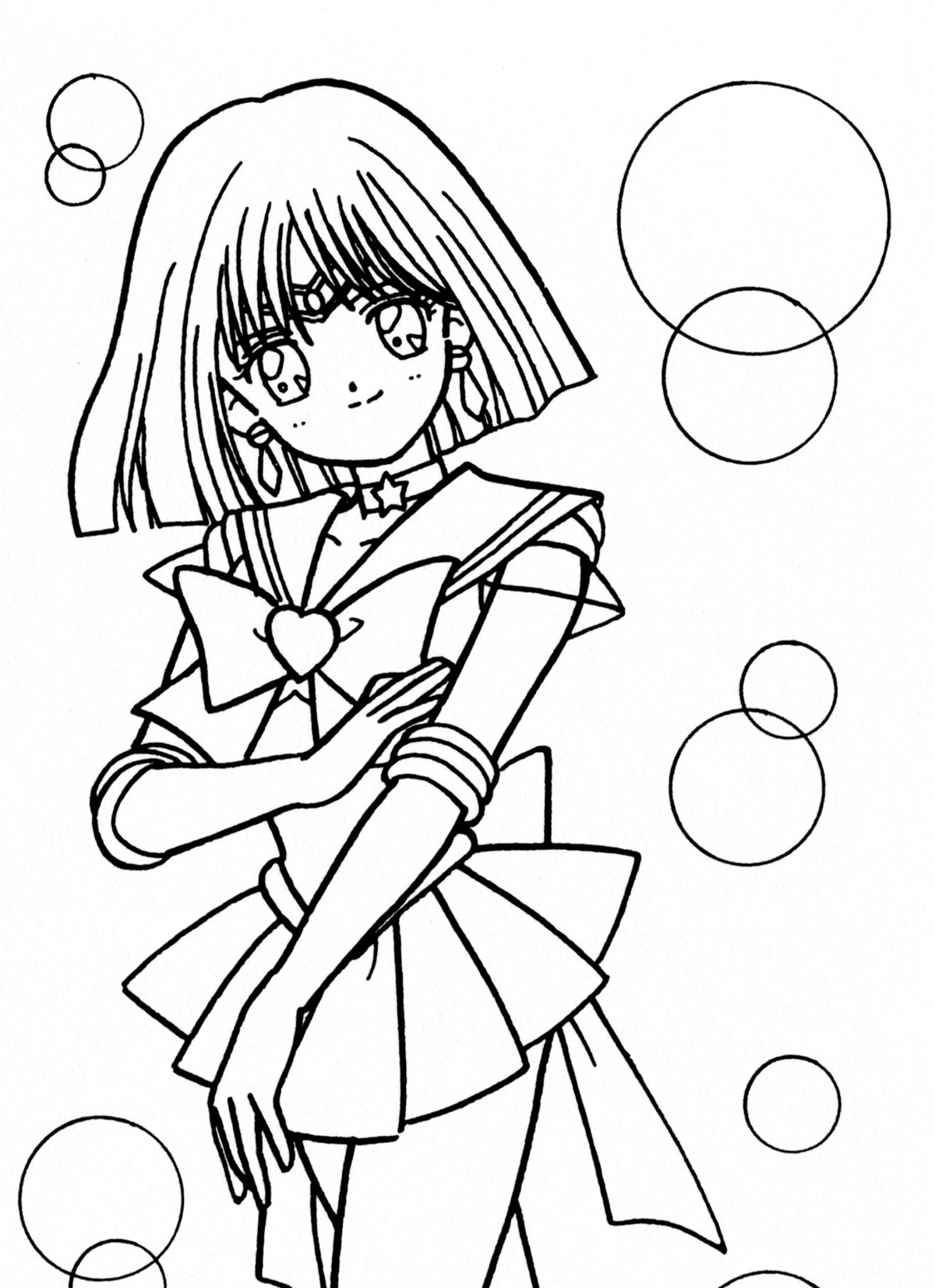 sailor moon coloring pages saturn - photo#6
